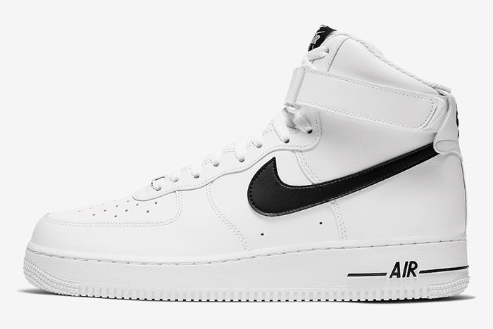 Nike Air Force 1 High White Black Ck4369 100 Lateral