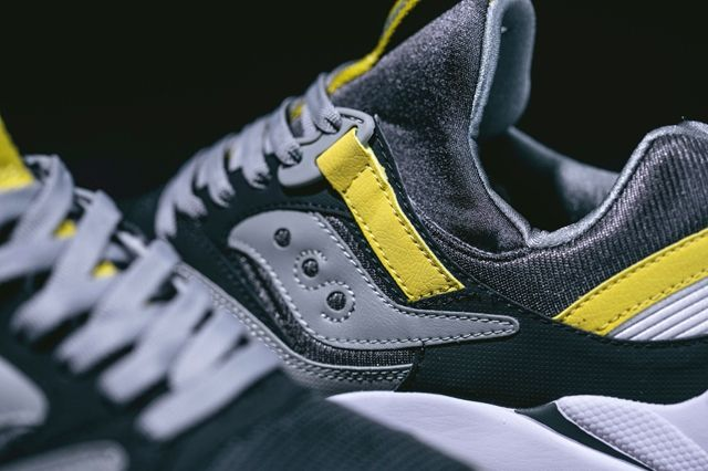 Saucony Grid 9000 Grey Yellow 2
