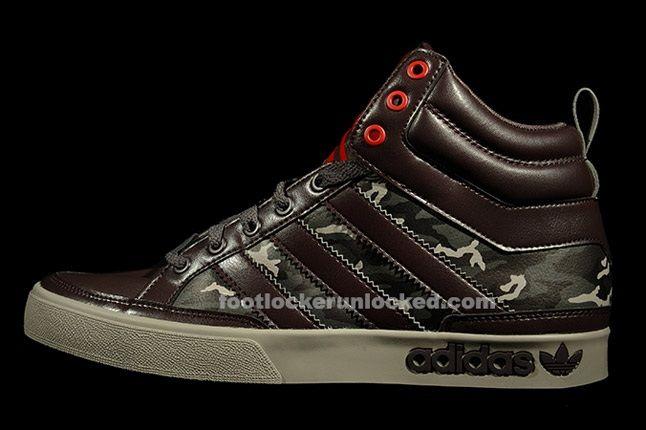 Adidas Top Court Camo Brown Profile 1