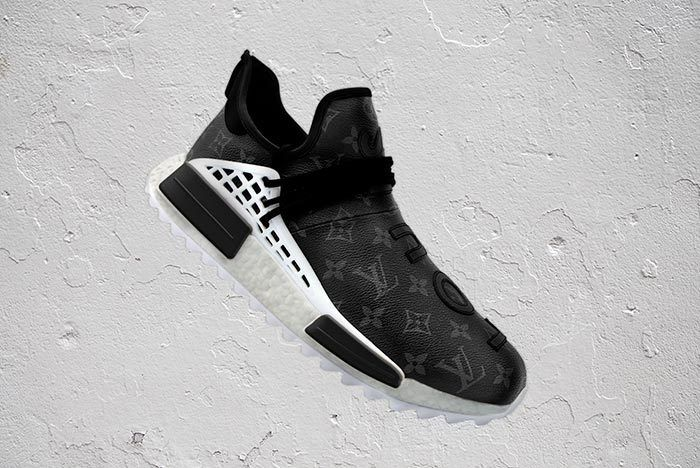 Pharrell Adidas Hu Nmd Louis Vuitton Black 3