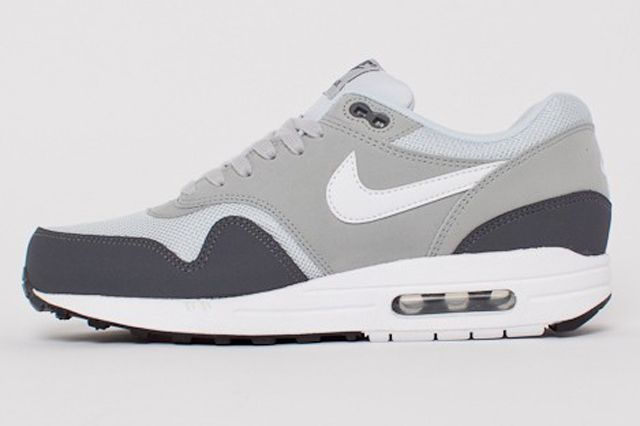 Nike Air Max 1 Essential Dark Grey White Silver Pure Platinum 1B