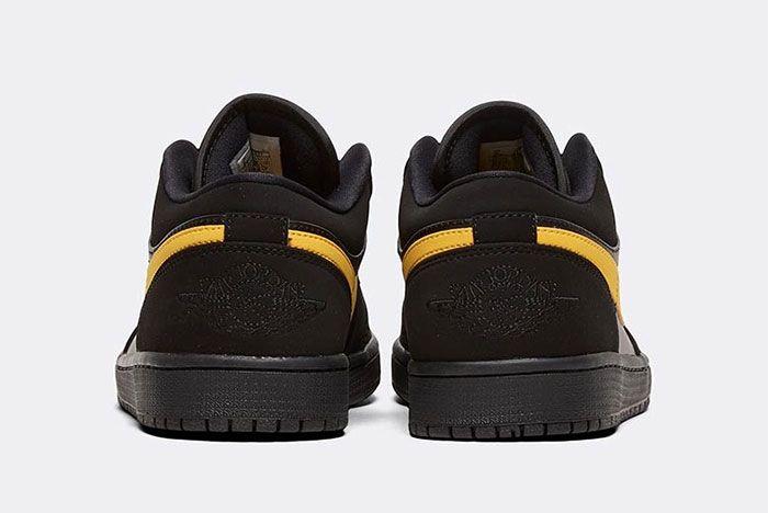 Nike Air Jordan 1 Low Gold Swoosh Heel