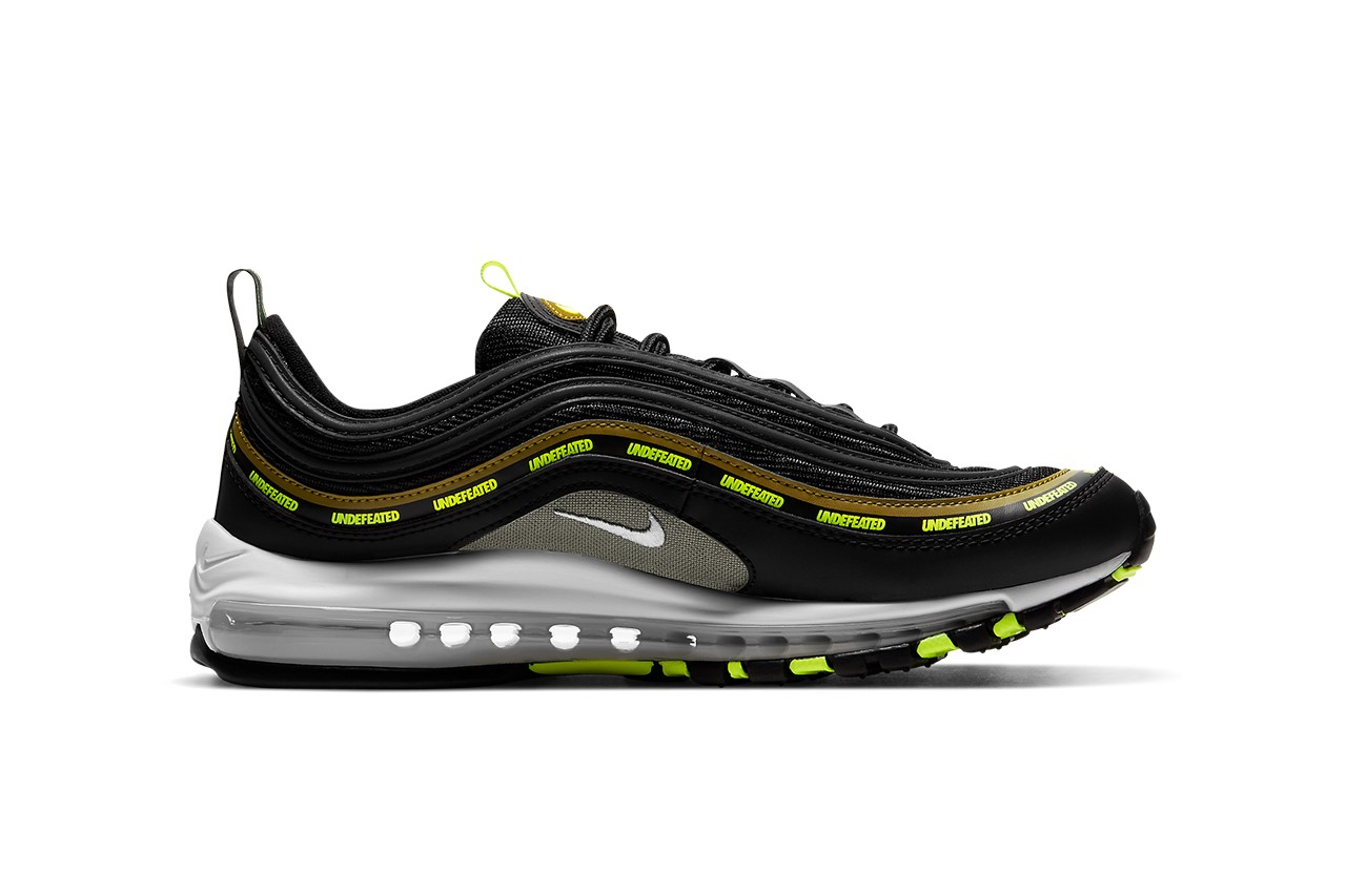 UNDEFEATED Nike Air Max 97 Black Neon