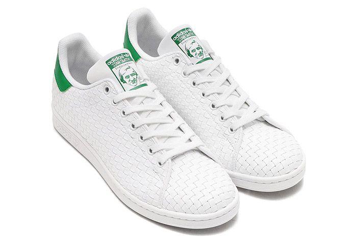 Adidas Stan Smith Woven White Green 1