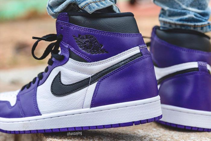 Air Jordan 1 High Og Court Purple Heel