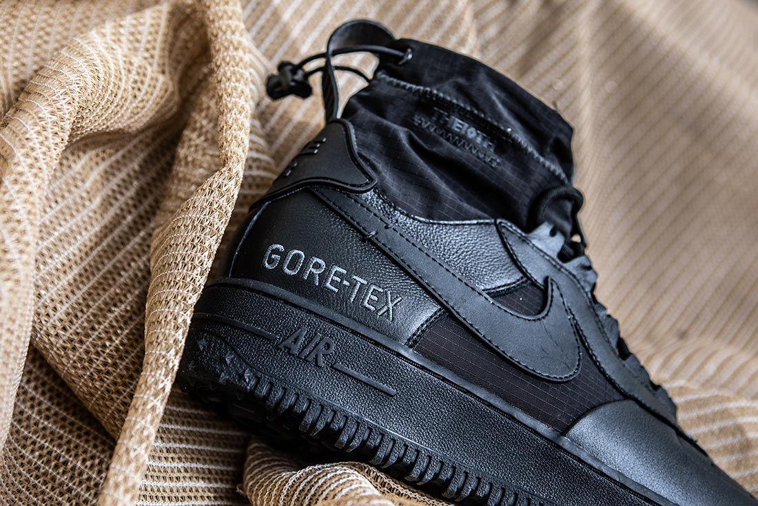 Nike Air Force 1 High Gore Tex Black Heel Detail