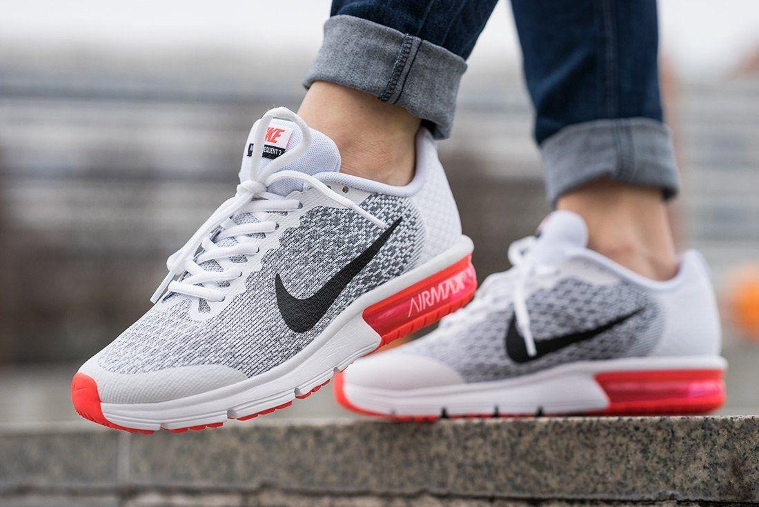 Nike Air Max Sequent 2 Gs White Bright Crimson2