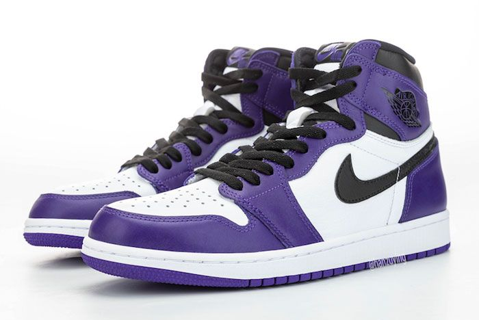 Air Jordan 1 Court Purple Left