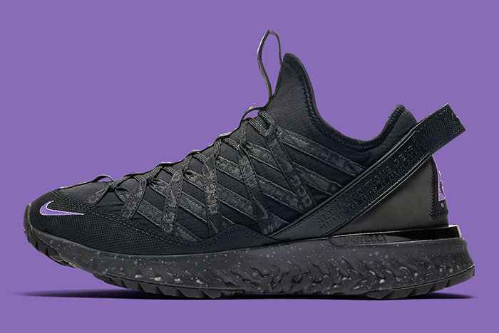 Nike Acg React Terra Gobe Black Purple Bv6344 001 Lateral