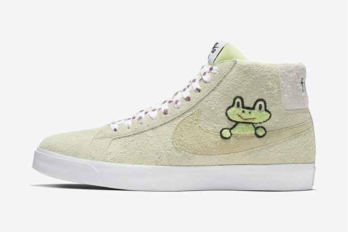 Frog Skateboards Nike Sb Zoom Blazer Mid Qs Side Profile