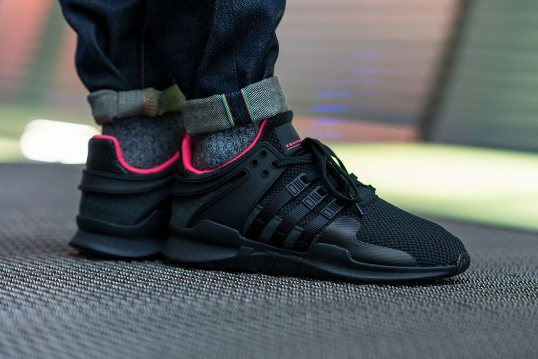 Adidas Eqt Support Adv Core Black Turbo Red3