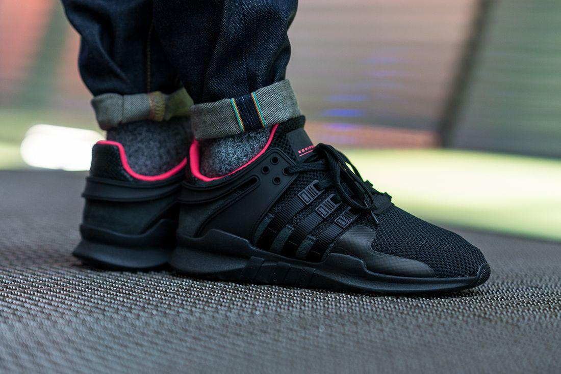 adidas EQT Support ADV (Core Black/Turbo Red) - Sneaker Freaker