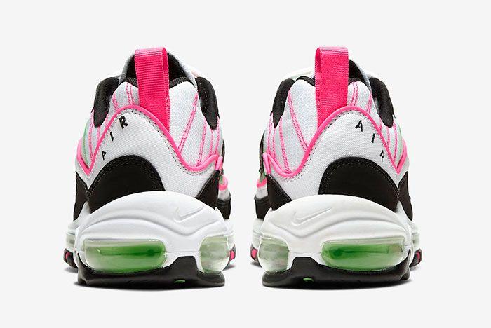 Nike Air Max 98 White Pink Volt Ci3709 101 Heel Shot