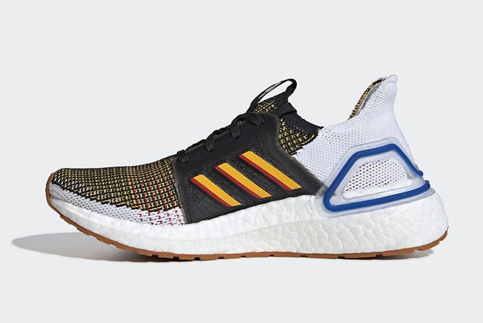 Adidas Ultraboost Core Black Active Gold Scarlet Left Side Shot