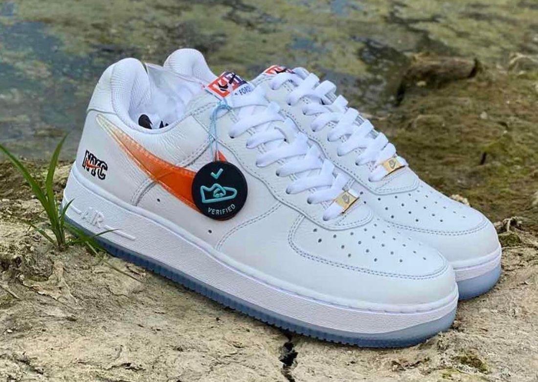 Kith x Nike Air Force 1 White Angled