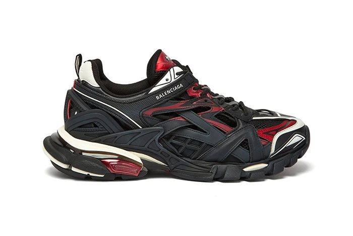 Balenciaga Track 2 Black Red Lateral