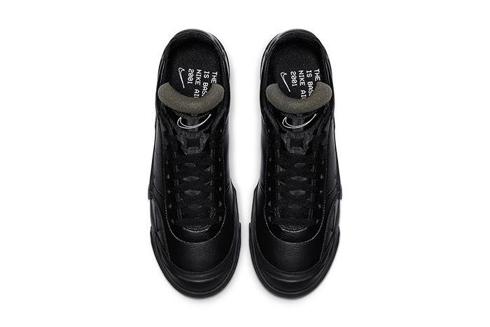 Nike Drop Type Lx Triple Black Cn6916 001 Release Date Top Down