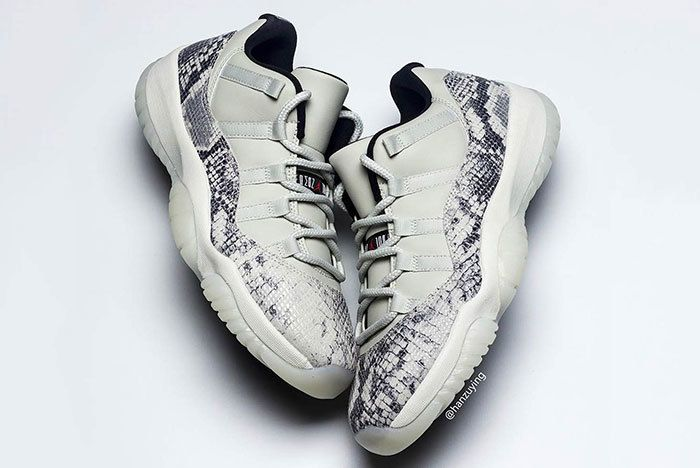 Air Jordan 11 Low Snakeskin Light Bone Cd6846 002 6