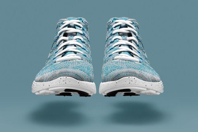 Nike Htm Flyknit Chukka Blue Front 1