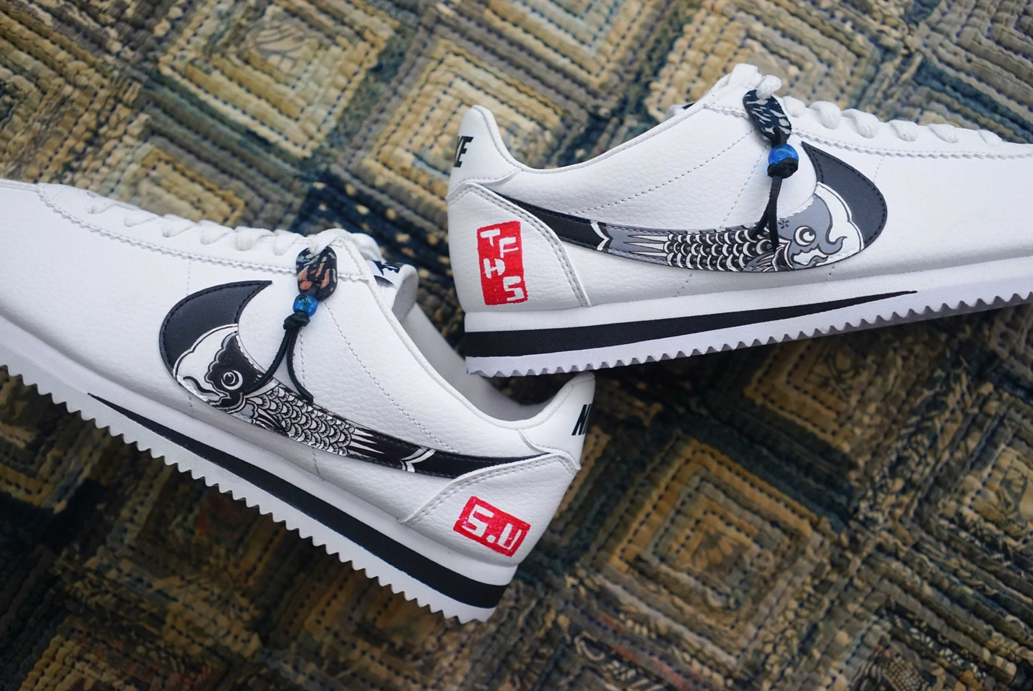 Nike Cortez Simple Union The Flying Hawk Studio Custom 2 Sneaker Freaker