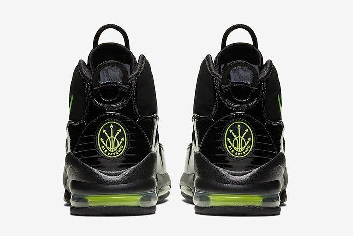 Nike Air Max Uptempo Black Volt Heel