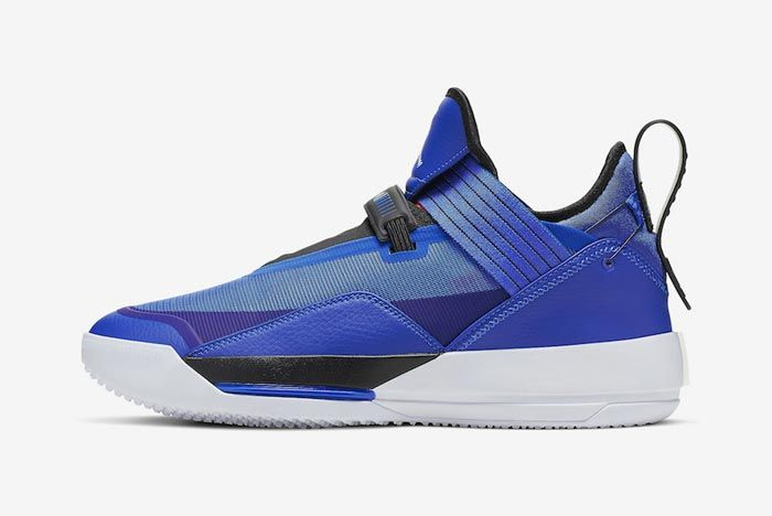 Air Jordan 33 Se Blue Lateral