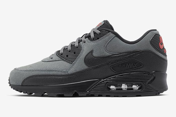 Niek Air Max 90 Black Grey Red Aj1285 025 Side2