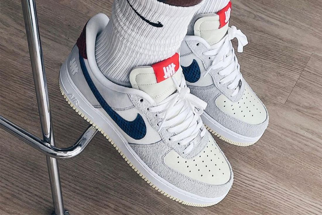 undefeated nike air force 1 vs dunk grey blue