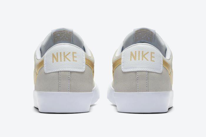 Nike Sb Blazer Low Gold Heels