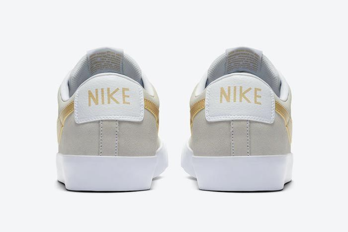 Nike Sb Blazer Low Gold Heels