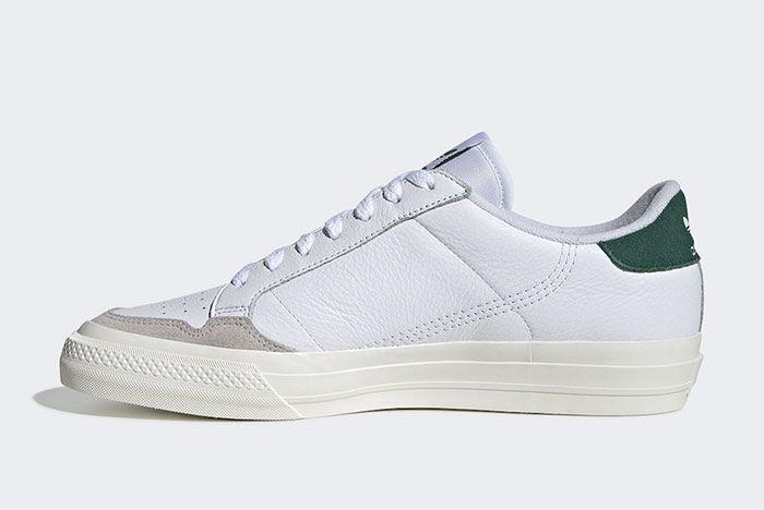 Adidas Continental Vulc White Green Left