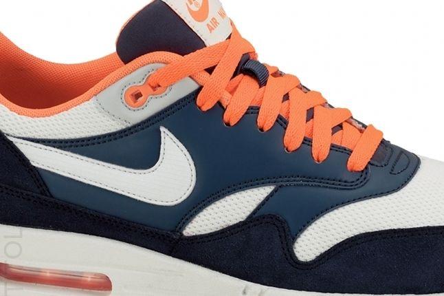 Nike Am1 Essentials Orange Turquoise Midfoot Detail 1