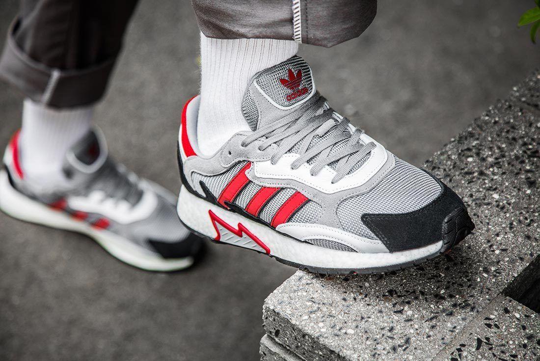 Red And Grey Adidas Tresc Run Upper Shot