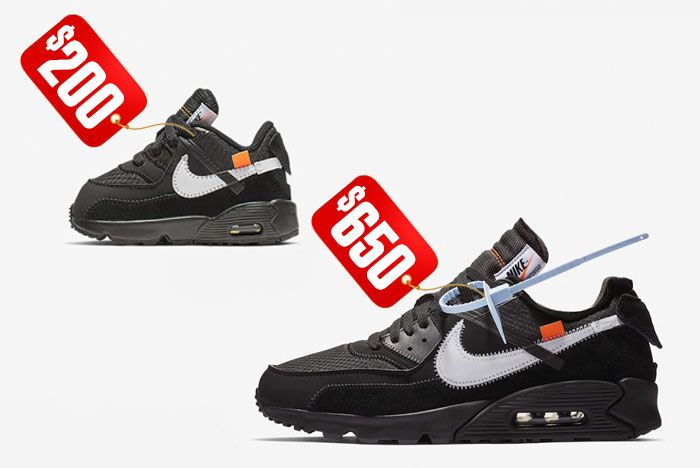 Nike Air Max 90 Off White Black Resale Price Comparison