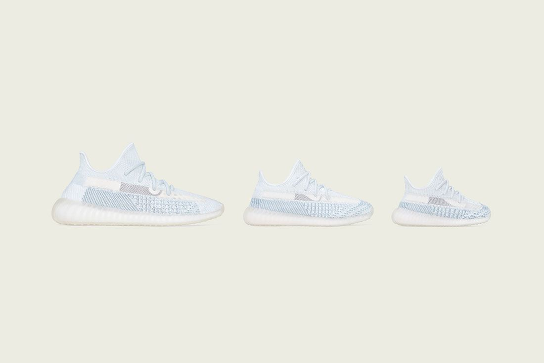 Adidas Yeezy Boost 350 V2 Cloud White Where To Buy Family Size
