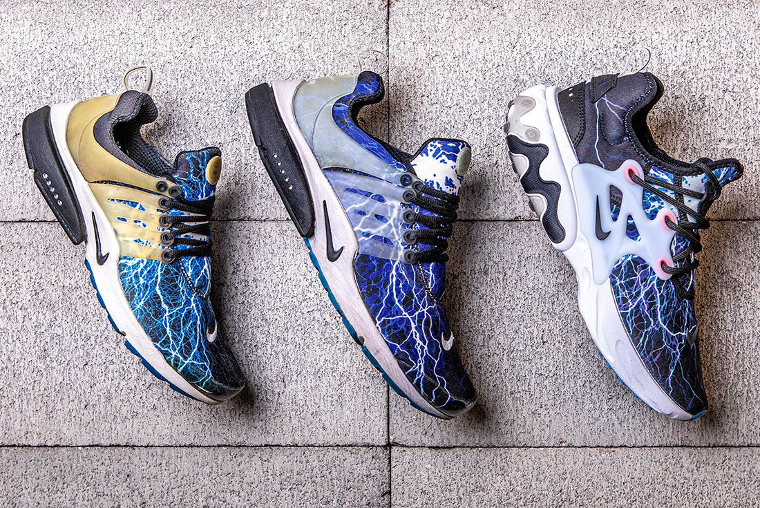 Nike Air Presto Lightning Og Retro React Comparison Lateral Cage