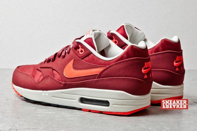 Nike Air Max 1 Prm Team Red Atomic Red Jaquard 3 1
