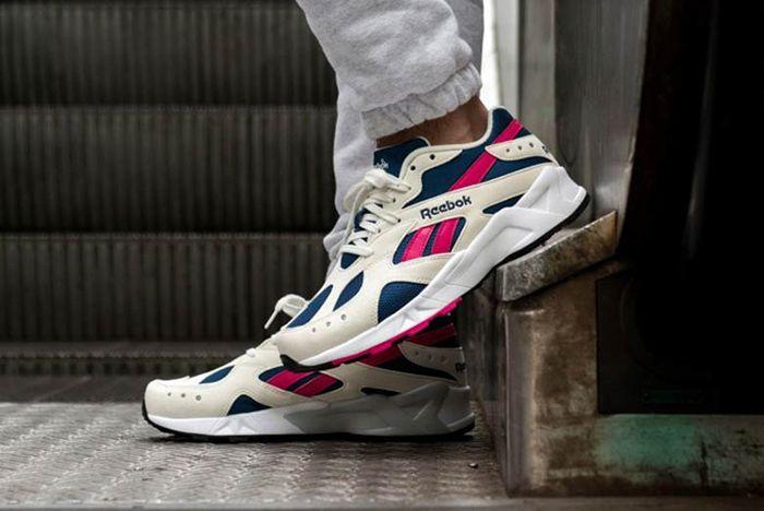 Reebok Aztrek Pink Blue White 1 Sneaker Freaker
