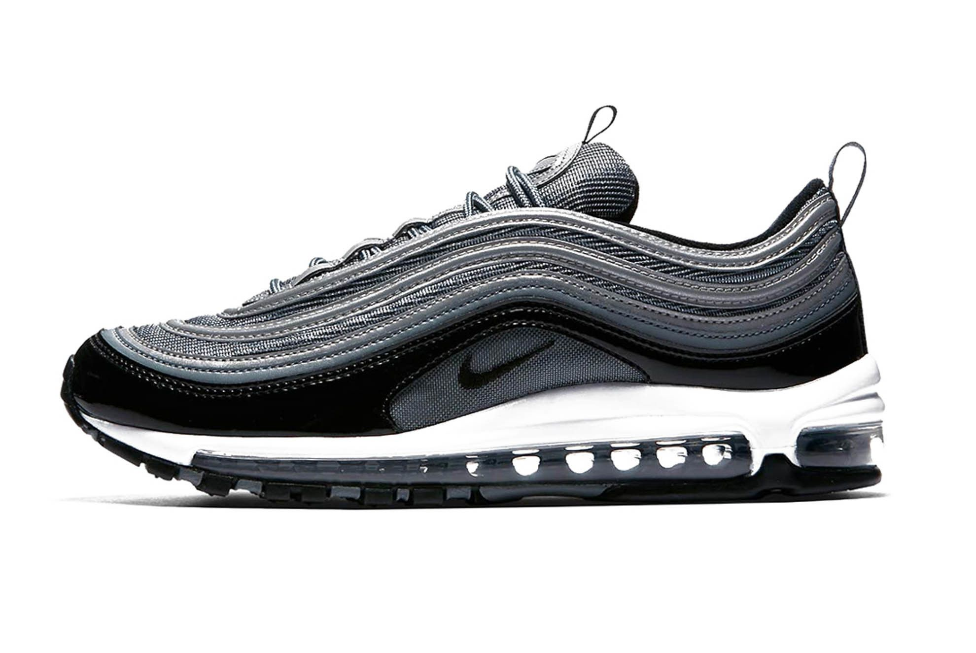 Nike Air Max 97 Black Patent Leather Release 001 Sneaker Freaker