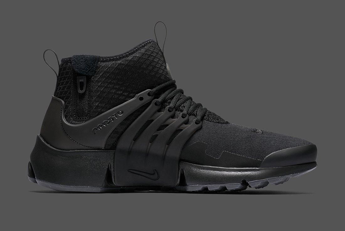 Nike Air Presto Mid Utility Triple Black 6