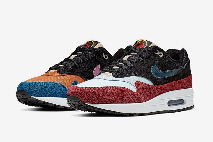 De Aaron Fox Nike Air Max 1 Swipa Cj9746 001 Release Date 4Pair Side