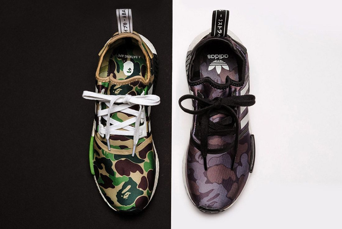 Bape Adidas Nmd 1 St Camo Olive Black A