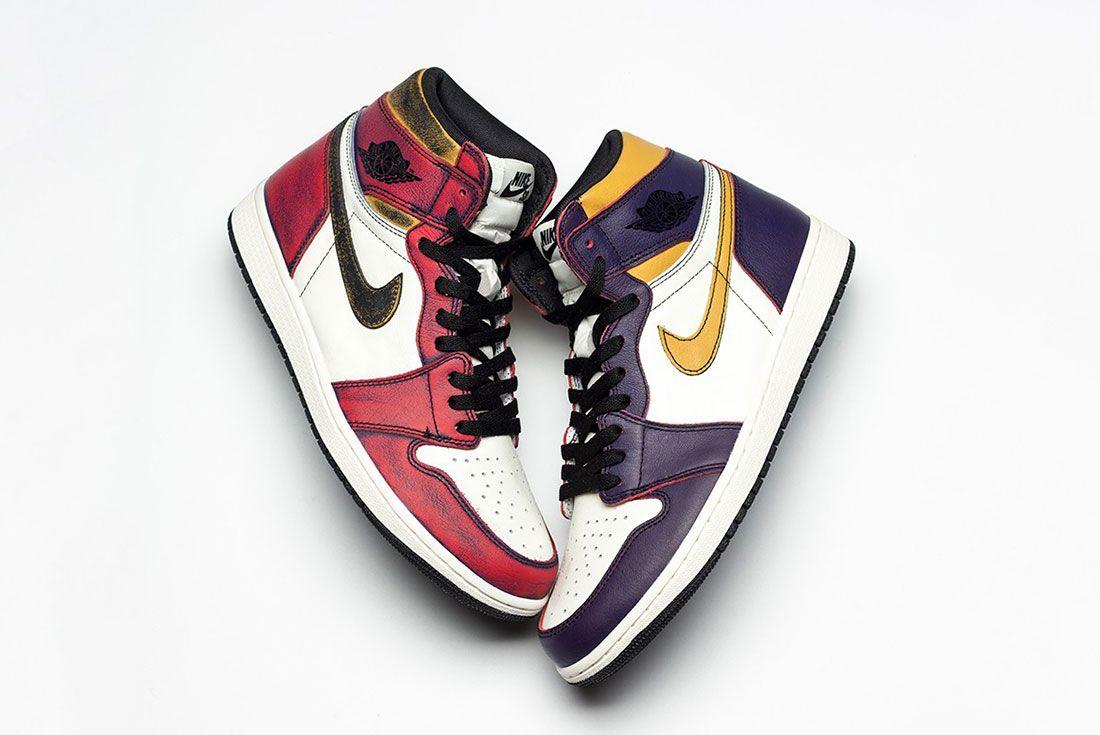 Nike Sb Air Jordan 1 Lakers Chicago Side Shot 1