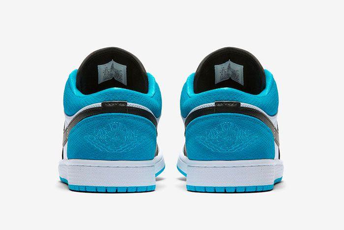 Air Jordan 1 Low Laser Blue Heel