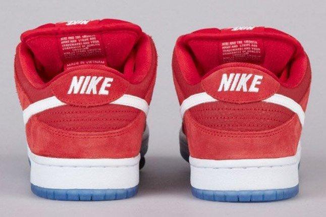 Nike Sb Dunk Low Challenge Red White University Blue Heels 1