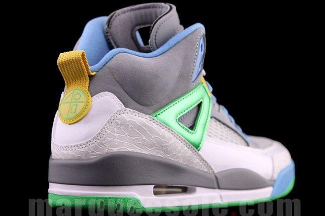 Jordan Spizike Cool Green Heel Angle 1