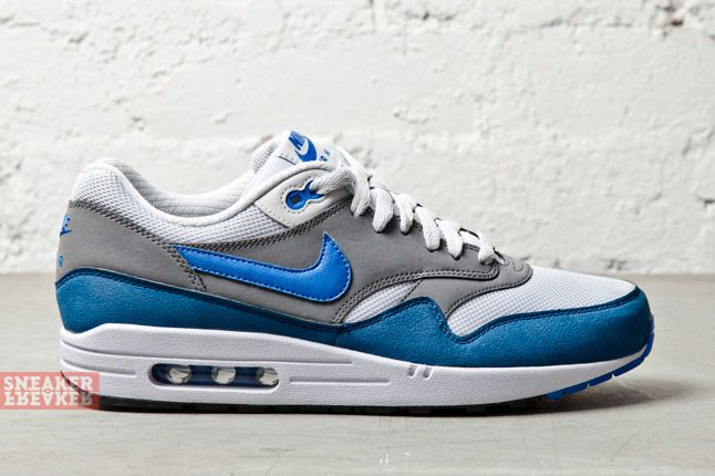 Nike Air Max 1 Essential Geyser Grey Pirze Blue 3