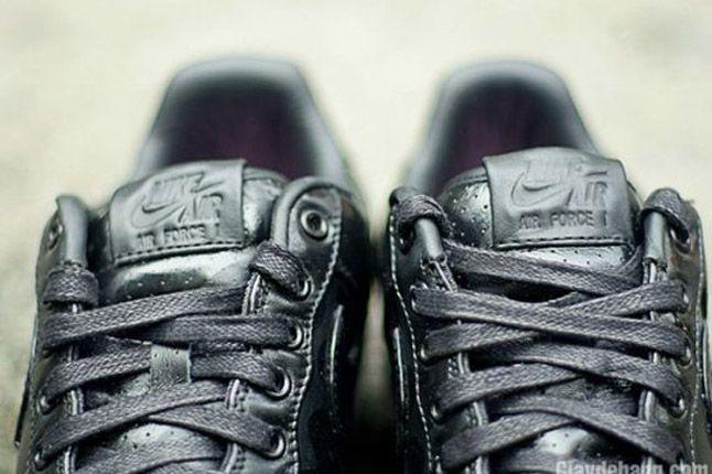 Nike Air Force One 1 Supreme Black Camo Heels Tongues 1