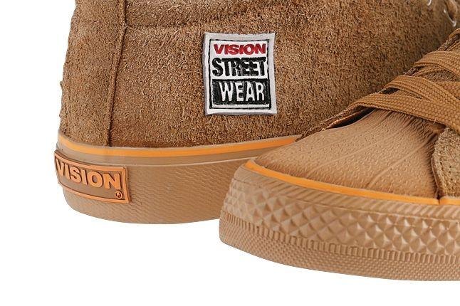 Vision Streetwear Womens Hi Suede Toe Detail