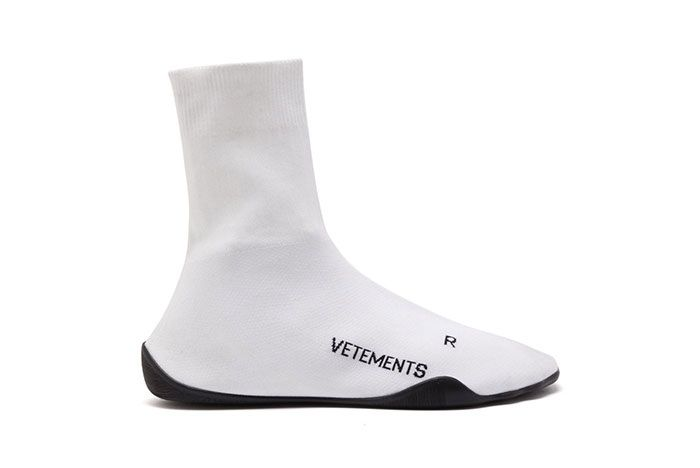 Vetements Sock Trainer White Lateral